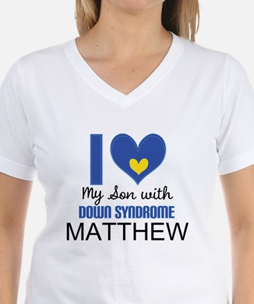 I Heart My Son With Down Syndrome T-Shirt