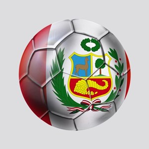 Peru Soccer Ball Button