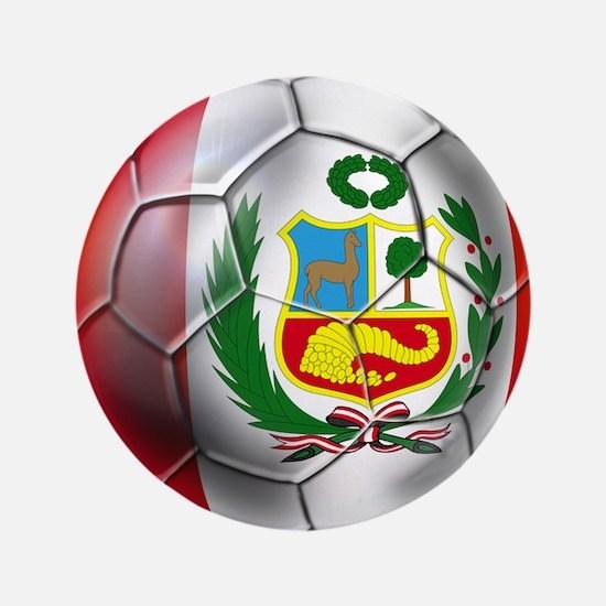 Peru Soccer Ball Button