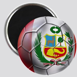 Peru Soccer Ball Magnets
