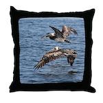 Pelicans in Flight Throw Pillow