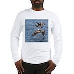 Pelicans in Flight Long Sleeve T-Shirt