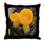 Orange Peel Fungi with Stalk Throw Pillow