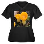 Orange Peel Fungi with Stalk Plus Size T-Shirt