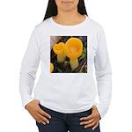 Orange Peel Fungi with Stalk Long Sleeve T-Shirt