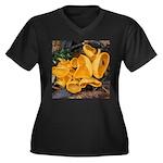 Orange Peel Fungi Plus Size T-Shirt