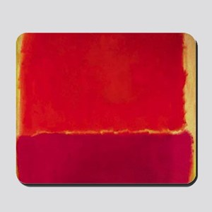 ROTHKO Yellow Box with Red Mousepad