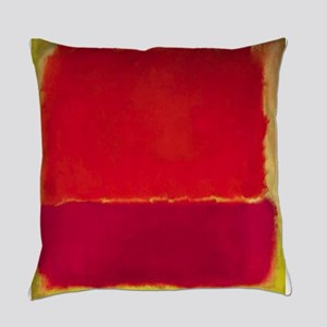 ROTHKO Yellow Box with Red Everyday Pillow