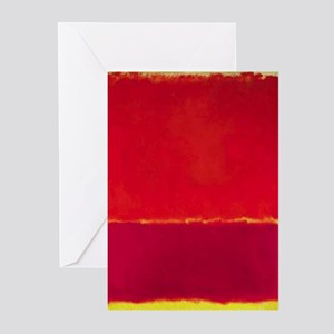 ROTHKO Yellow Box with Red Greeting Cards