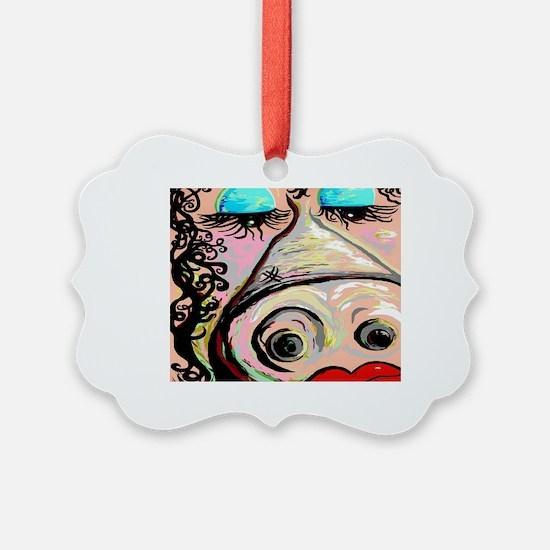 Cute Lipstick on a pig Ornament