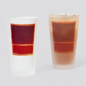 ROTHKO ORANGE RED Drinking Glass