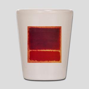 ROTHKO ORANGE RED Shot Glass