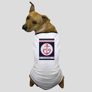 Nautical Anchor Monogrammed Dog T-Shirt