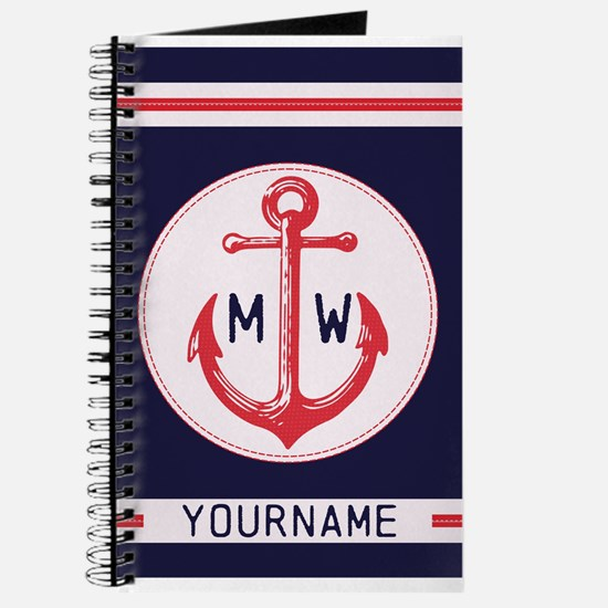Nautical Anchor Monogrammed Journal