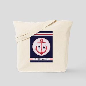 Nautical Anchor Monogrammed Tote Bag