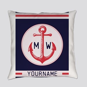Nautical Anchor Monogrammed Everyday Pillow