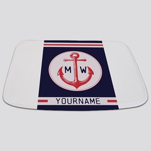 Nautical Anchor Monogrammed Bathmat
