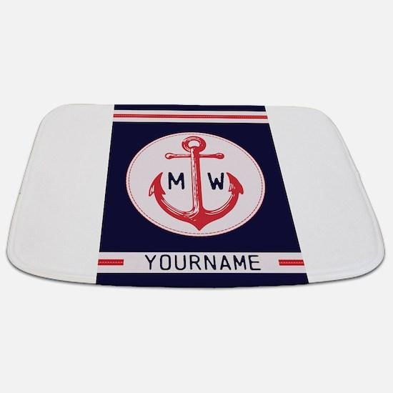 Nautical Anchor Monogrammed Bathmat