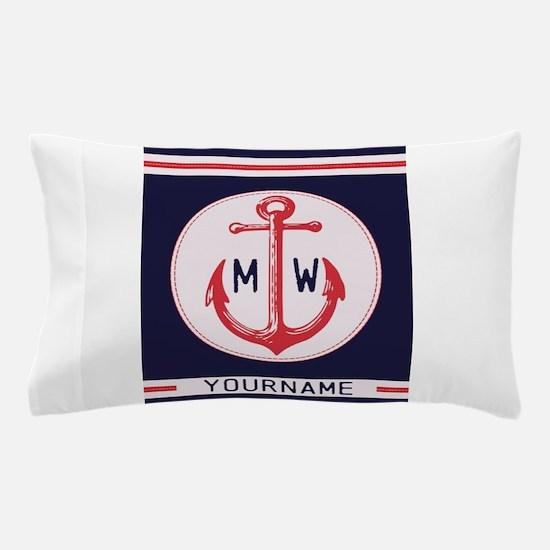 Nautical Anchor Monogrammed Pillow Case