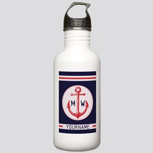 Nautical Anchor Monogrammed Water Bottle