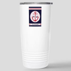 Nautical Anchor Monogrammed Travel Mug