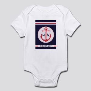 Nautical Anchor Monogrammed Body Suit
