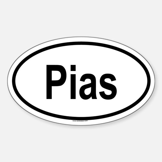 PIAS Oval Decal