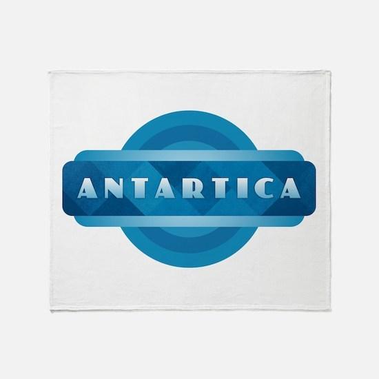 Antartica - Blue Throw Blanket