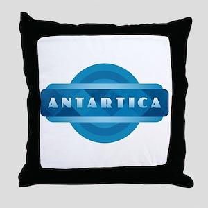 Antartica - Blue Throw Pillow