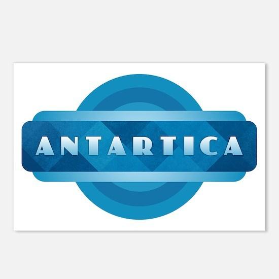 Antartica - Blue Postcards (Package of 8)