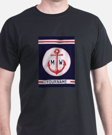 Nautical Anchor Monogrammed T-Shirt