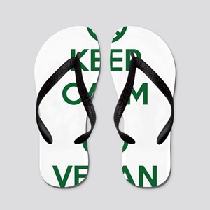 Keep Calm and GO VEGAN Flip Flops