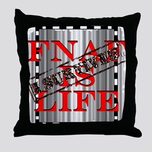 FNAF is life Throw Pillow
