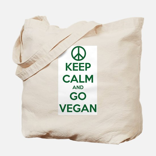 Keep Calm and GO VEGAN Tote Bag