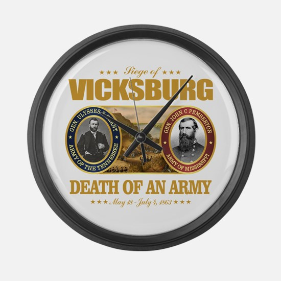 Vicksburg (FH2) Large Wall Clock