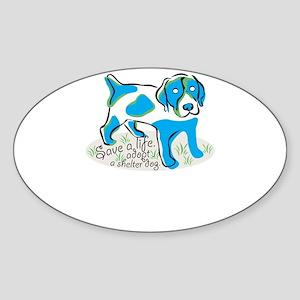 save a life,adopt,a shelter dog Sticker