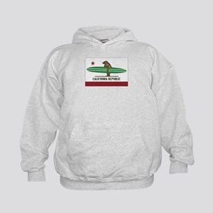 California Surfing Bear Longboard Flag Sweatshirt