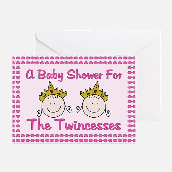 Twincesses Baby Shower Card