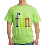 317. fun.. [color] Green T-Shirt