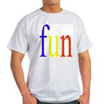 317. fun.. [color] Ash Grey T-Shirt