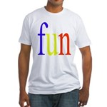 317. fun.. [color] Fitted T-Shirt