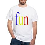 317. fun.. [color] White T-Shirt