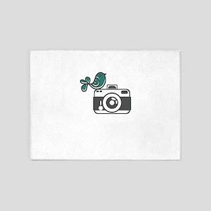 bird photography 5'x7'Area Rug