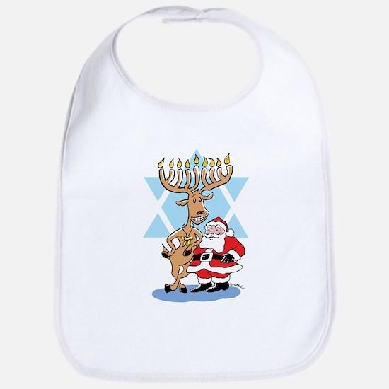 Jews 4 Santa Baby Bib