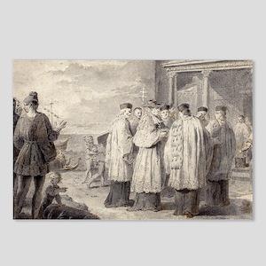 A Venetian Scene by Pietro Antonio Novelli Postcar