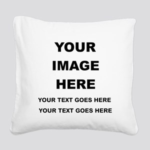 Your Photo and Text Here T Shirt Square Canvas Pil