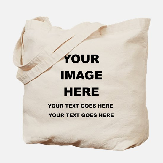 Your Photo and Text Here T Shirt Tote Bag