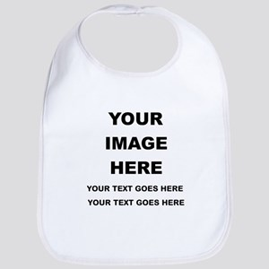 Your Photo and Text Here T Shirt Baby Bib