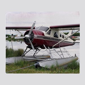 Float plane, Lake Hood, Anchorage, A Throw Blanket