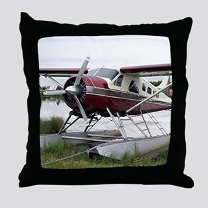 Float plane, Lake Hood, Anchorage, Al Throw Pillow